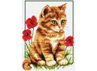 """Набор для вышивания """"котенок в цветах"""", Белоснежка"""
