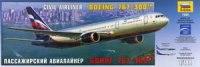 Сборная модель. пассажирский авиалайнер боинг 767-300, Звезда