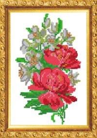 """Набор для вышивания бисером """"жасмин и розы"""", 24.4x32.8 см, Светлица"""