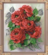 """Набор для вышивания бисером """"садовые розы"""", 38.5x47.5 см, Светлица"""
