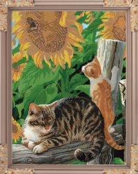 """Набор для вышивания бисером """"игривый котенок"""", 37.1x49.8 см, Светлица"""