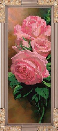 """Набор для вышивания бисером """"розы"""", 54.6x17.7 см, Светлица"""
