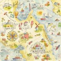 """Бумага для скрапбукинга """"карта. вокруг света"""", 31x31 см, K&Company"""