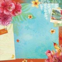 """Бумага для скрапбукинга """"рай. вокруг света"""", 31x31 см, K&Company"""