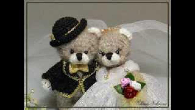 Вязаные игрушки медведи Very beautiful crochet toy bears