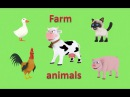 Farm animals for children toddlers. 3D animated picture show. Cartoons for babies. Learn English.