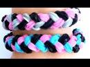 Плетение на станке очень красивого браслета из резинок Rainbow Loom