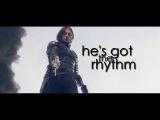 Bucky Barnes He's got the rhythm.