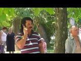 Pavlo Zibrov telephones Павло Зибров разговаривает по телефону