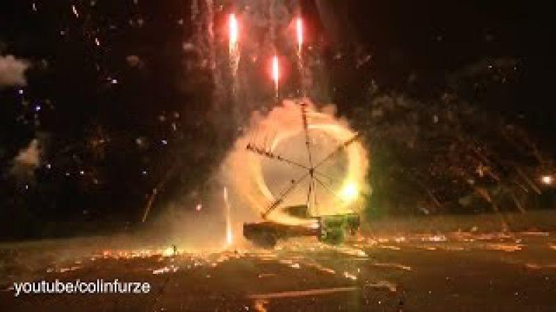 Rocket Powered Firework Wheel Unedited