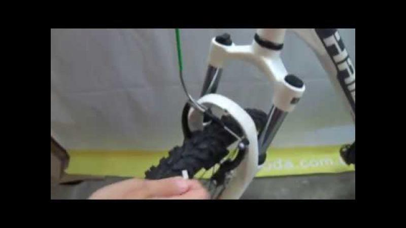 Настройка ободного тормоза велосипеда системы V brake обучающее видео от Velomoda