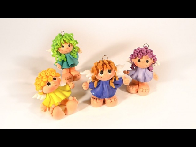 Little ANGEL polymer clay tutorial - ANIOLEK z modeliny