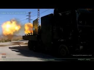 Сирия. ЗУ-57 САА на позиции устраняет прорыв саранчи ДАИШ