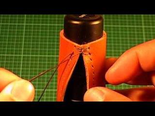 【革の縫い方っ!4】:『クロス・ステッチ-①(cross‐stitch-1)』 レザーク&#1