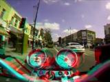 Сумасшедший мотоцикл. Анаглифная зарядка для глаз.