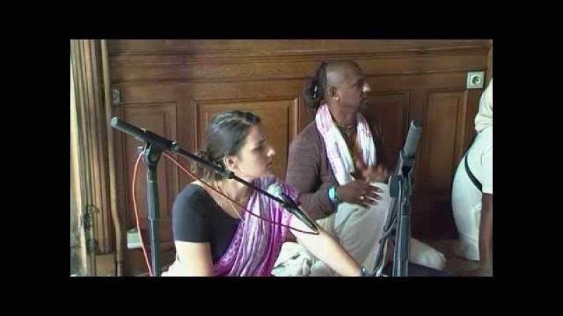 Nadia Mani Madhava - Abhishek Kirtan - Balarama Jayanti - New Mayapur, France - Aug 13, 2011