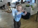 2 year old dancing to Iron Maiden