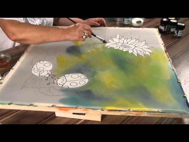 «Ручная работа». Платок в технике двойного батика (23.07.2014)