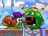 Мультик ИГРА для детей -улитка Боб спасает дедушку МОРОЗА Snail Bob (3 серия)
