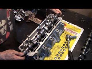 Часть2 Lada Samara Я его слепила из того что было.Ремонт 2108 (замена седла клапана.фрезеровка ГБЦ