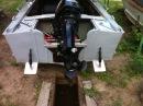 Тестируем транцевые плиты на лодке Прогресс 2