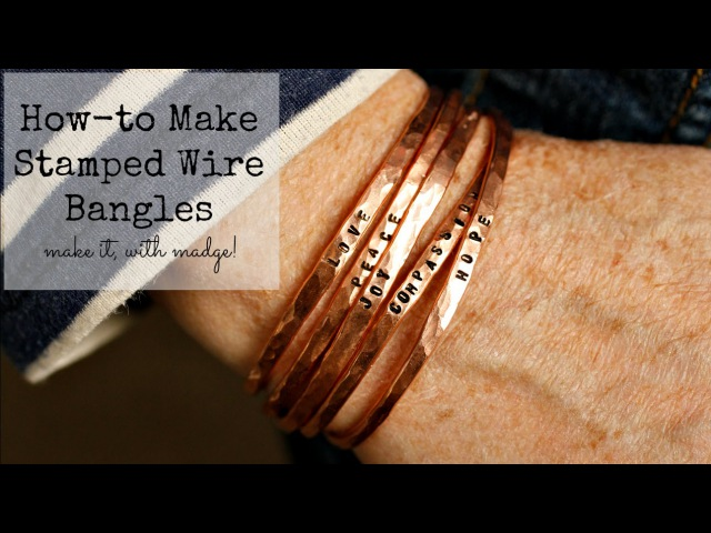 DIY Stamped Wire Bangle Tutorial