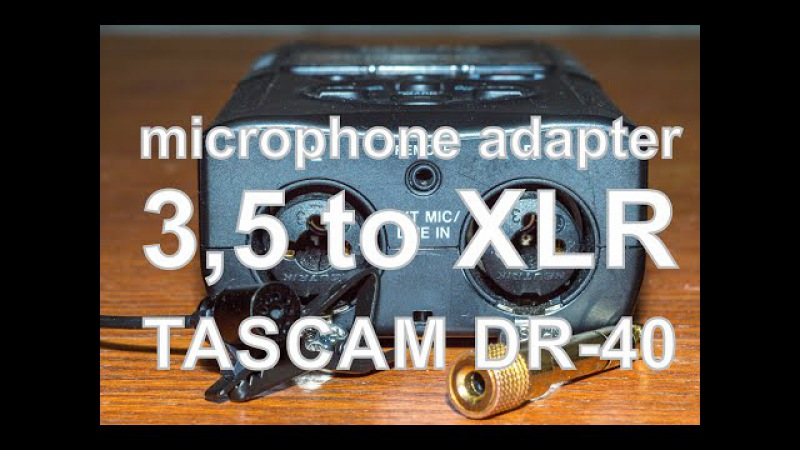 Microphone adapter for audio recorder TASCAM dr-40 Адаптер для петличного микрофона