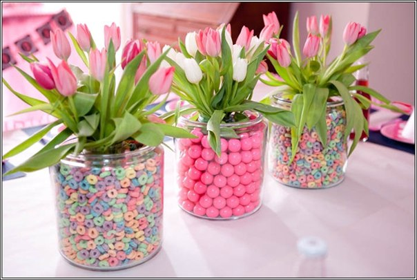 Centerpiece ideas for baby shower tables