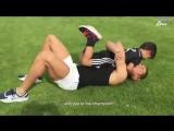 Криштиану Роналду тренируется вместе с сыном.