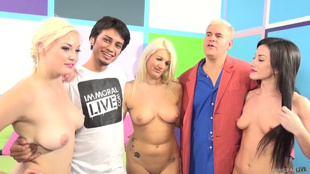 ImmoralLive – Jennifer White, Laela Pryce And Jenna Ivory – Handjob For A Fan And Pussy For Dan