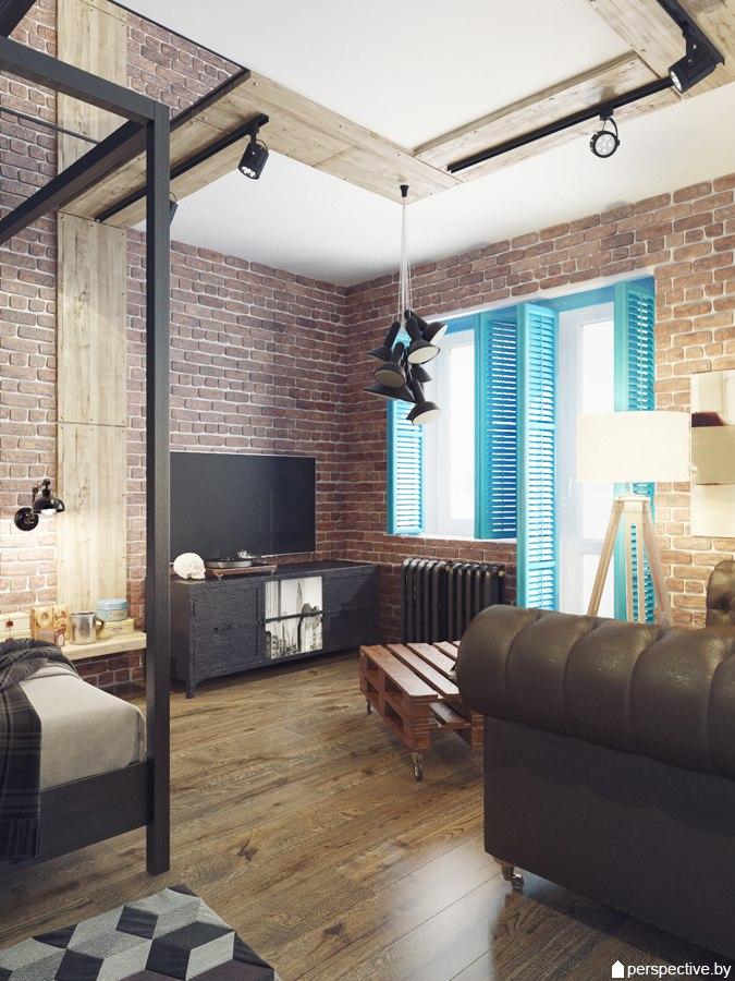 Проект квартиры 40 м.