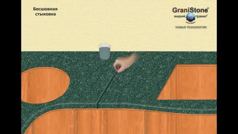 №8 Бесшовная стыковка. GraniStone -- жидкий гранит. Новая технология.