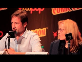 X-Files Panel NY Comic Con 2013 w- Gillian Anderson  David Duchovny