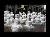 Жин Жин - Снегом Стать (Ремикс) 2015 Позитив на зимнюю тему. Прикольные снеговики.