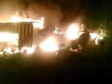 Пески последствие минометного обстрела, горят жилые дома