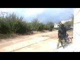 Сирия 08 10 2015 Террористы ИГИЛ прячутся от обстрелов Ми 24 РФ