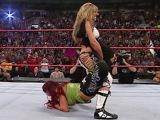 WWE Alumni Trish Stratus competes in her retirement match