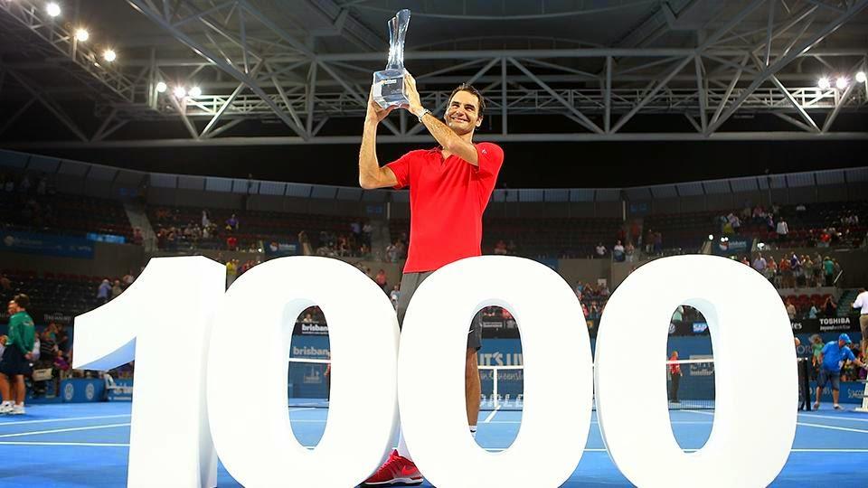 Федерер 1000 победа