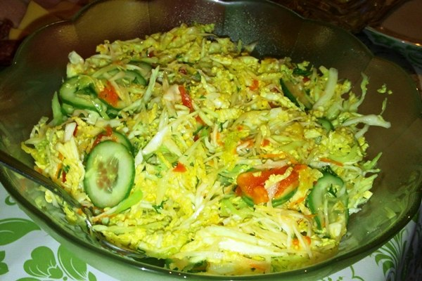 Салат савойская капуста рецепты