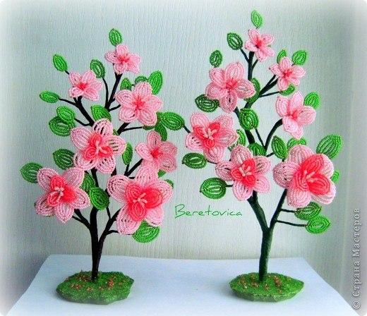 Поделки из бисера своими руками цветы фото