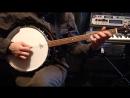 Тенор-банджо Упражнение на две струны. Tenor banjo basics