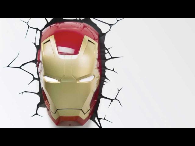 3D-светильник Железный человек/Iron Man