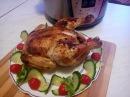 Сочная курица целиком в мультиварке