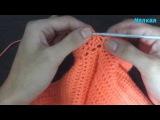 Вязание крючком для детей кофточка зайка с капюшоном 3 часть. вязание рукава после реглана и манжет