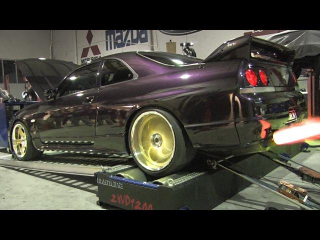 Angry Nissan GT-R dyno - PROBLN