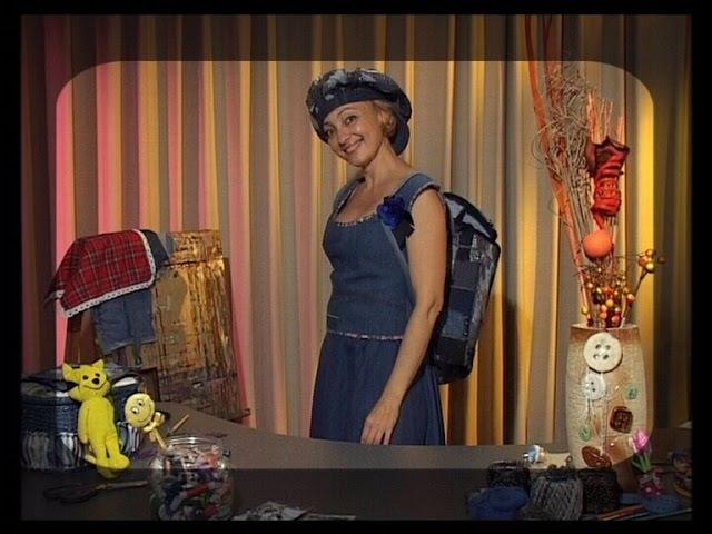 Шьем рюкзак и кепку из остатков джинсовой ткани Мастер класс Татьяна Лазарева