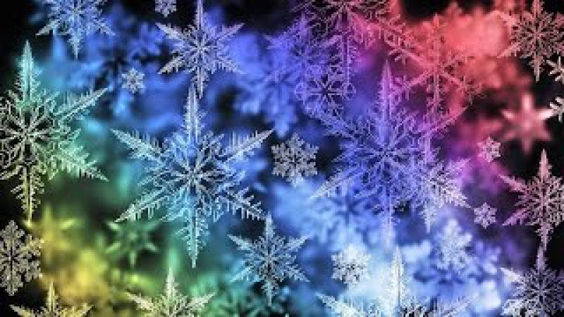 Кристаллы воды (снежинки) под музыку А. Рыбникова и В.А. Моцарта