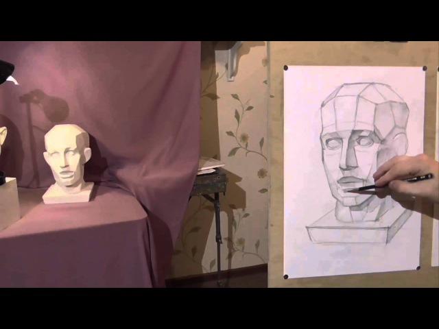 Обзор видео курса Обучение академическому рисунку