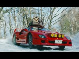 Drifting a Ferrari F40 in Snow Up To Base Camp (4k!)