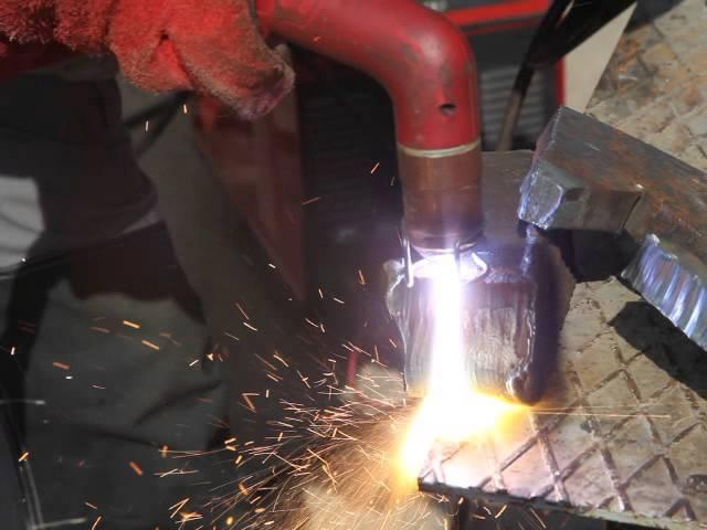 Plasma metall cutting CUT160 KIRK, carbon steel 60mm.